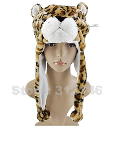 Cute Funny Plush Faux Fur Animal Stuffed Beanie Hood Hat Winter Adult Womens Mens Children Kids Boys Girls Warm Cosplay Costume (Bronw (Jack Daniels Girl Halloween Costume)
