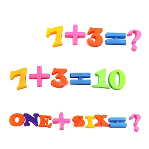 Set Of 26 Colorful Teaching Magnetic Numbers Fridge Magnets ()