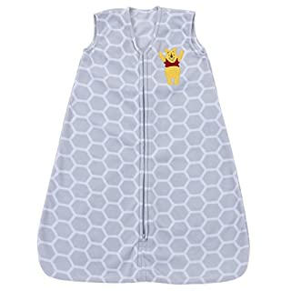 Disney Baby Winnie The Pooh Super Soft Microfleece Wearable Blanket, Gray, Medium