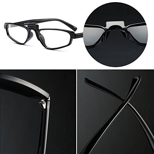 Rectangular Moda Transparente Mujer Gafas Retro Sol Steampunk Fiesta Negro de Clásico Fuyingda Hombre Gafas Unisexo 0Aa0Sw