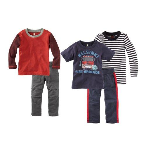 Tea Collection Baby Boys' Fire Engine Five Piece Set