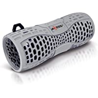 AXESS SPBW1035GY Portable Water Resistant Bluetooth Loud Speaker System with Speakerphone to Answer your Calls In Gray