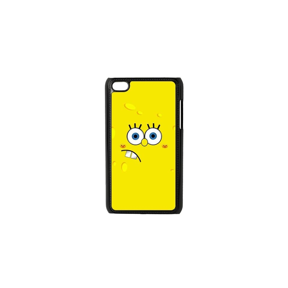 Cartoon SpongeBob SquarePants Personalized Music Case Ipod Touch 4th Case Cover for Ipod Touch 4th Generation IT4SS153