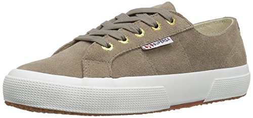 Superga Women's 2750 Sueu Fashion Sneaker, Sand/Gold, 37 EU/6.5 M US