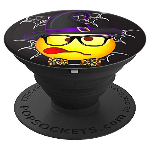 (Funny Nerd Emoji Face Halloween Geek Costume - PopSockets Grip and Stand for Phones and)