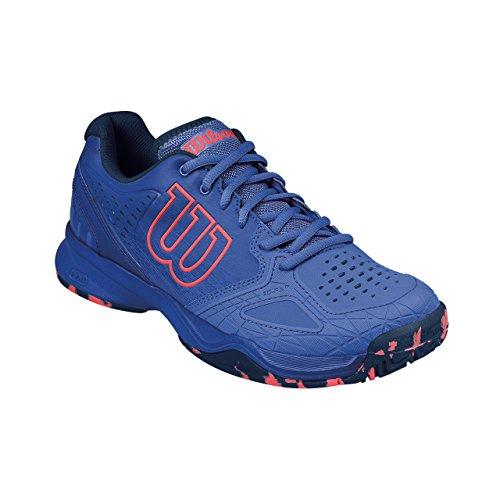 Wilson Wrs322460e035, Chaussures de Tennis Femme, Bleu (Amparo Blue / Surf the Web / Fiery Cora), 36 1/3 EU