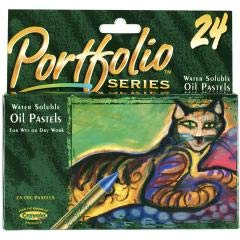 - Portfolio Oil Pastels, Water Soluble, 24/CT, Assorted, Sold as 1 Box