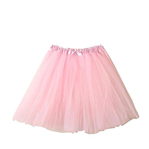 SaiDeng Mini Tutú Enaguas Multicapa De Volantes Frilly De Ballet Falda De La Mujer Prom Noche Ocasión Accesorio Verde Pink