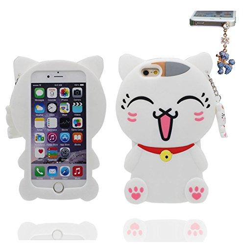 """iPhone 7 Coque (4.7""""), [ TPU Material Flexible 3D chat ] élégant Étui pour iPhone 7 (4.7""""), Dust Slip Scratch Resistant, Case souple & Bouchon anti-poussière"""