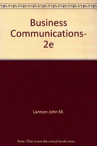 Business Communications, 2e
