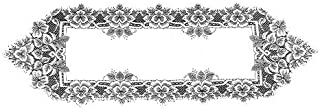 product image for Heritage Lace Heirloom 14-Inch by 44-Inch Runner, White