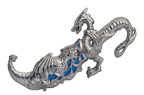 "10"" Fantasy Dragon Dagger Blade Knife Sword (Blue)"