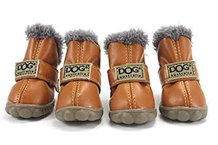 Amazon.com   Colorfulhouse DOG Australia Winter Warm Dog Boots 4 Pcs ... ce1893a6eea6