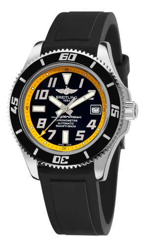 Breitling Men's A1736402/BA32RS Superocean Abyss Black and Yellow Dial Watch ()