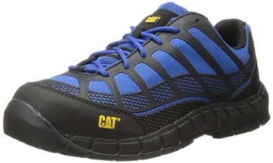 Caterpillar Men's Streamline Comp Toe Running Shoe,Black/Classic Blue,7 M US