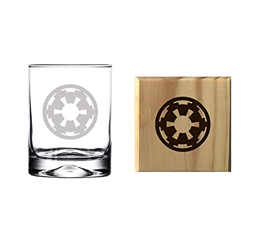 Brindle Southern Galactic Empire Rocks/Whiskey Glass and Wooden Coaster Set Review