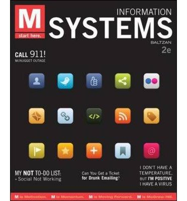 Download M: Information Systems 1st (first) Edition by Baltzan, Paige, Phillips, Amy [2010] PDF