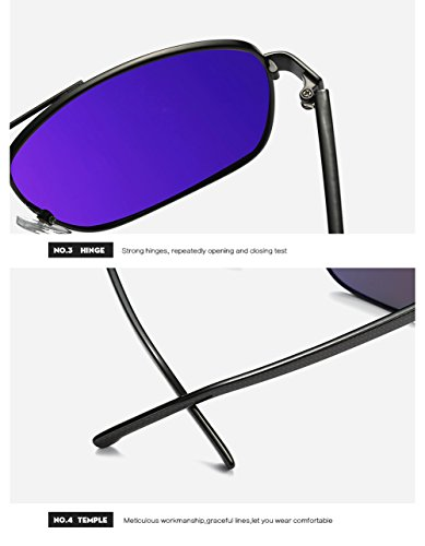 De C3 C2 Protección para Hombre 400 UV Polarizadas para Mujer Gafas Aviator Sol OdPOqBw