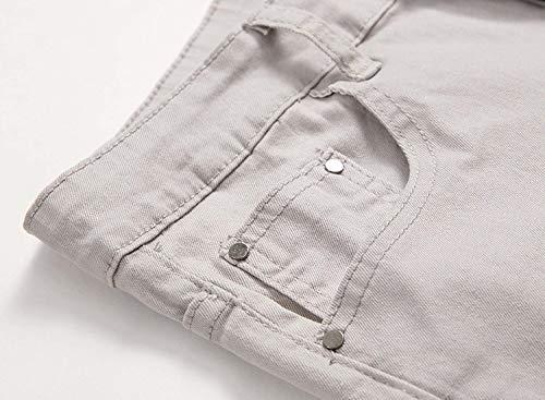 Vita Dritta E Alta Grey A Jeans Slim Uomo In Fit Con Alto Elasticizzati Pantaloni Giovane Denim Da Elastico Bassa 8FwBBq5