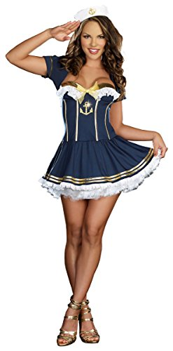 [Rockin' The Boat Costume - Large - Dress Size 10-14] (Rockin The Boat Costumes)