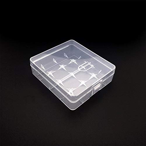 Hard Portable Plastic Storage Box Case Holder Safe And Dry Practical Durable Box For 4 X 18650 Battery Unique's(color:Transparent)(size:)