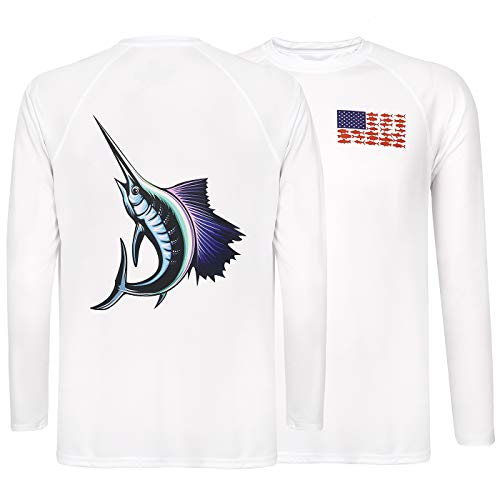 - HDE Performance Fishing Shirts for Men - Long Sleeve UPF 50 Sun Protection Quick-Dry Outdoor T-Shirt
