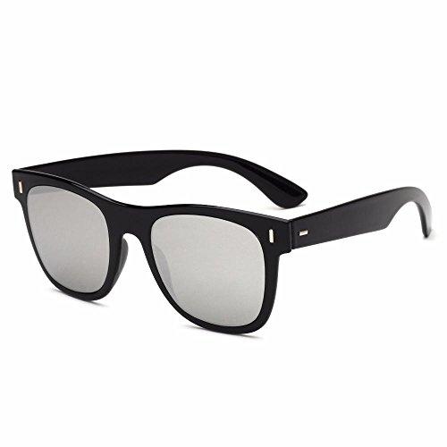 moda D Aoligei sol hombres uñas de de Arroz de Retro sol transparentes gafas gafas delgadas sol de señora gafas pwqUR0p