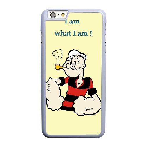 Coque,Coque iphone 6 6S 4.7 pouce Case Coque, Popeye Cover For Coque iphone 6 6S 4.7 pouce Cell Phone Case Cover blanc