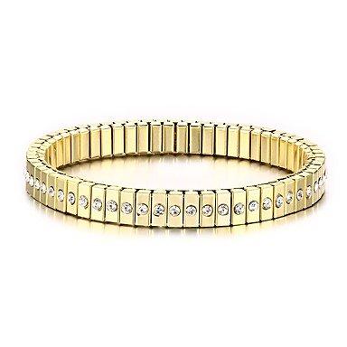 期間限定特別価格 Burenqi Burenqi @メンズチェーンブレスレットパンクステンレススチールラインストーンゴールドメッキ模造ダイヤモンドサークルジュエリーパーティー2ピース B07BS7KMJV/セット B07BS7KMJV, イワフネマチ:48628fdf --- a0267596.xsph.ru