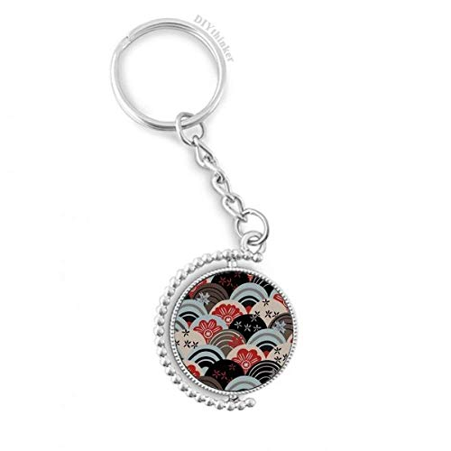 Regular Japanese Traditional Cultural Rotatable Key Chain Ring Keyholder