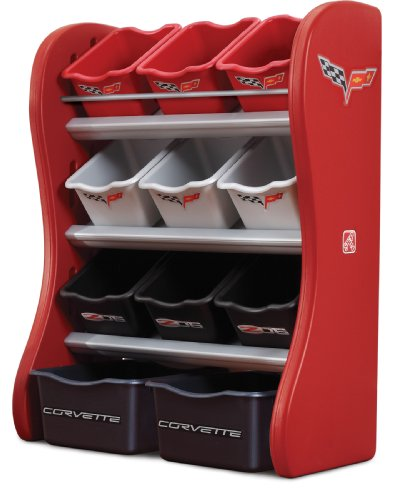 Step2  Corvette Room Organizer, Red/Blac