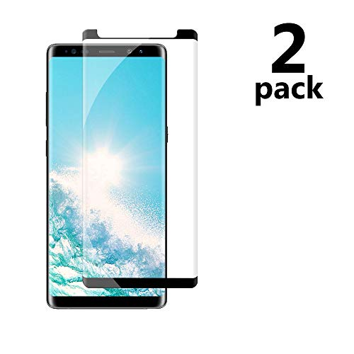 Galaxy Note 8 Black Screen Protector,Case Friendly/Scratch Resistant/9H Hardness/HD Tempered Glass Film Compatible with Samsung Galaxy Note 8[2 Pack 6.3in]