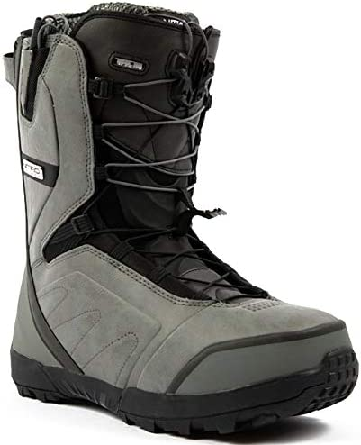 Nitro Snowboards Mens Select Clicker TLS 20 All Mountain Freeride Premium Snow Lacing System Boat Snowboard Boat 26.5 Black