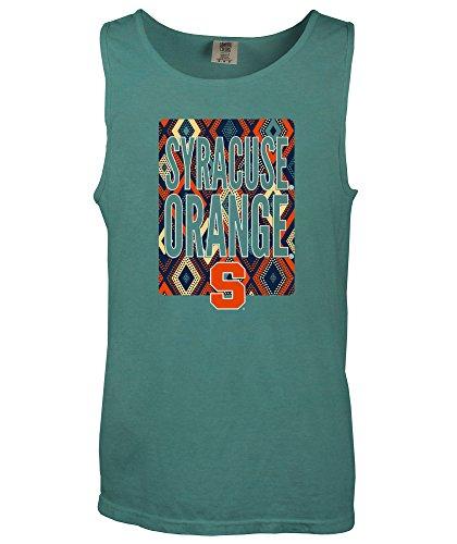 (NCAA Syracuse Orange Block Pattern Comfort Color Tank Top, Medium,Seafoam)