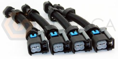 [WQZT_9871]  Amazon.com: 4x Wiring Harness USCAR EV6 EV14 to Nippon Denso Fuel injector  Adapter: Automotive | Denso Wiring Harness |  | Amazon.com