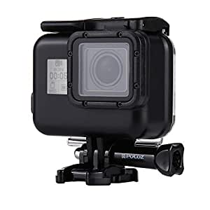 PULUZ 2 in 1 for GoPro HERO(2018) / HERO7 Black /6/5 Back Cover + 30m Waterproof Housing Protective Case with Buckle Basic Mount & Screw, No Need to Remove Lens