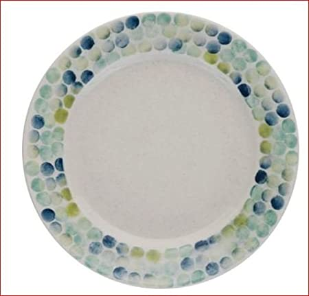 Blue And Green Spotty Habitat Ponto Dinner Plate Dishwasher and Microwave Safe : spotty dinner plates - pezcame.com
