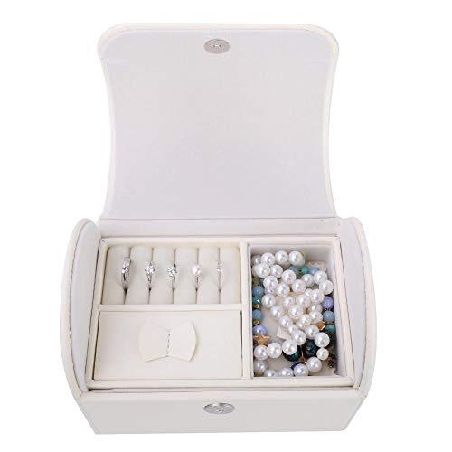 - Salmue Jewelry Box, Two-Tier Jewelry Storage Box, PU Leather Large-Capacity Jewelry Box Jewelry Box, Jewelry Storage Box case Organizer