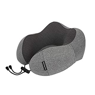 Travelon Contoured Memory Foam Travel Pillow, Charcoal, One Size