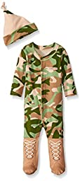 Big Dreamzzz Baby Camo 2-Piece Layette Set in Backpack Gift Box, Tan, 0-6 Months