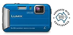 Panasonic Waterproof, Shockproof, Freezeproof, Dustproof Waterproof, Shockproof, Freezeproof, Dustproof Lumix FT30 Tough Underwater Digital Point and Shoot Camera, Blue (DMC-FT30GN-A)