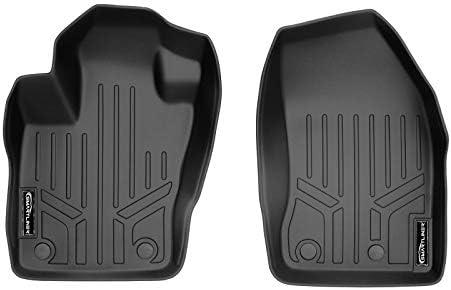 SMARTLINER All Weather Custom Fit 1st Row Black Floor Mat Liner Set Compatible With 2015-2021 Jeep Renegade