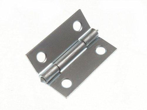 (100 X Butt Hinge Door Cupboard Bzp Zinc Plated Steel 38Mm 1 1/2)