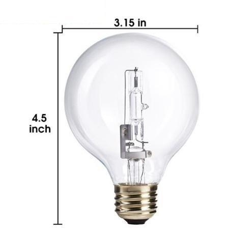 Base Globe Incandescent Clear Light Bulb Sterl Lighting Pack OF 6 25G25//CL 25 Watt G25 Medium E26