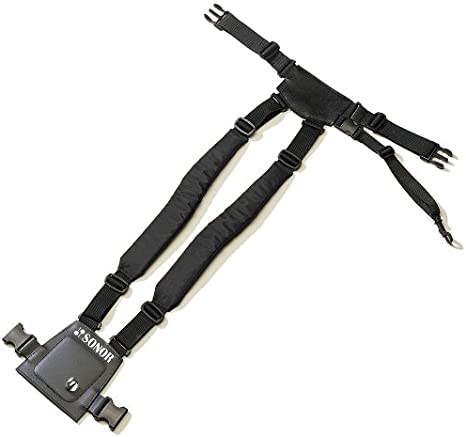 Schwarz L-XL für Snare Drum Sonor PG 6560 Powergurt