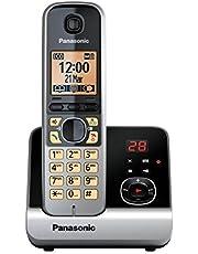 Panasonic KX-TG6721GB draadloze telefoon (4,6 cm (1,8 inch) display, smart-knop, handsfree, antwoordapparaat) zwart/zilver