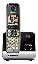 Panasonic KX-TG6721 - Teléfono Fijo Digital, Color Negro y Gris [versión importada]