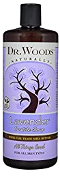 Dr. Woods Pure Lavender Castile Soap with Organic Shea Butter, 32 Ounce