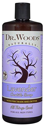 Dr. Woods Pure Lavender Castile Soap with Organic Shea Butter, 32 (Dr Woods Pure Almond Castile Soap)