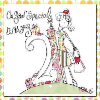 21st birthday girl handmade birthday card amazon co uk kitchen